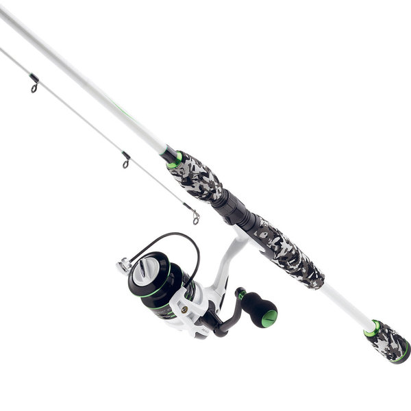 Kinetic Zexus Green Line Angel-Rute 2,10m + Rolle Forelle u. Barschrute Casting