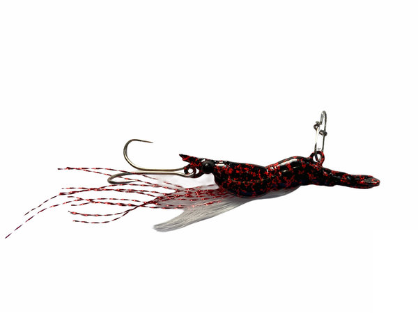 Spoon Ultra Light Fishing Metal Shrimp 3 g/6 g Black/Red Spots